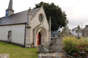 Vue de la Chapelle Notre-Dame du Loc à Saint-Avé